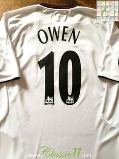 Official Reebok Liverpool away football shirt from the 2003/2004 season. Complete with Owen #10 on the back of the shirt in Premier League lettering.