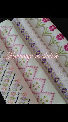 Hardanger Embroidery, Cross Stitch Embroidery, Cross Stitch Borders, Cross Stitching, Crochet Bedspread, Embroidered Towels, Bargello, Dish Towels, Diy And Crafts