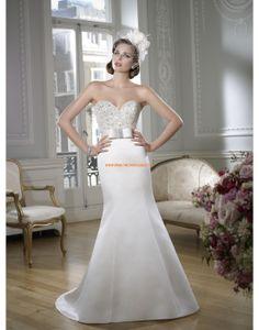 RONALD JOYCE Meerjungfrau Luxuriöse Hochzeitskleider aus Taft mit Perlenstickerei