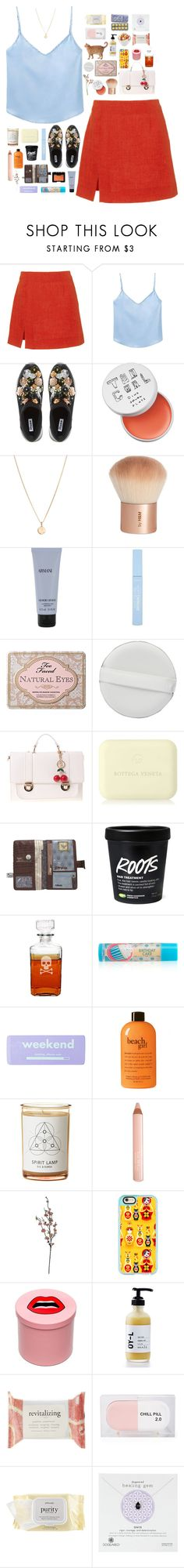 """i'll meet you in the middle"" by dill-a ❤ liked on Polyvore featuring Isa Arfen, Dune, too cool for school, Laura Lee, H&M, Giorgio Armani, Too Faced Cosmetics, NARS Cosmetics, Guide London and Bottega Veneta"