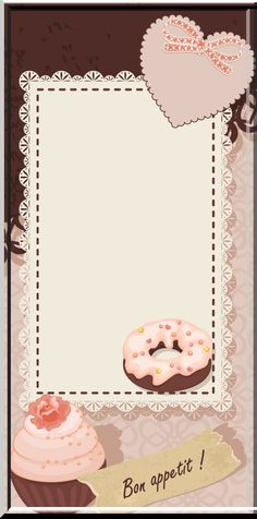 Image du Blog zezete2.centerblog.net Scrapbook Recipe Book, Photo Deco, Cupcake Card, Notes Template, Cute Notebooks, Printable Pictures, Business Planner, Binder Covers, Note Taking Tips