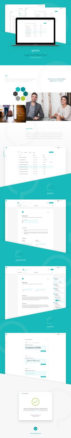 Qontra - Legal Stuff Made Easy on Behance