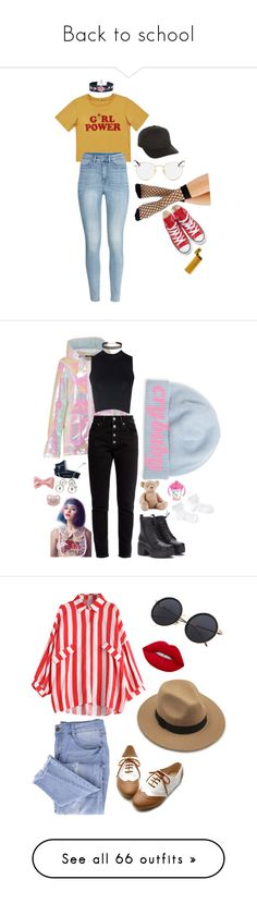 """""""Back to school"""" by indiestyle0013 ❤ liked on Polyvore featuring Vero Moda, Converse, Ray-Ban, Flexfit, Portolano, Boohoo, Balenciaga, Glamorous, Humble Chic and Puma"""