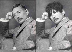 夏目漱石に落書きでgackt