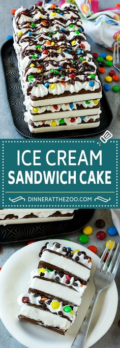 Ice Cream Sandwich Cake Recipe | Ice Cream Cake | Frozen Cake Recipe | No Bake Ice Cream Cake #icecream #cake #dessert #chocolate #dinneratthezoo