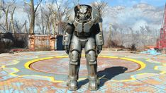 Fallout 4 - Life Size X-01 Power Armor for Cosplay Free Papercraft Download