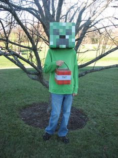 Minecraft Creeper Costume @Randy Sehres  I see you are all ready for Halloween!