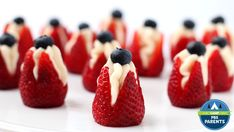 Cheesecake filled strawberries , so easy