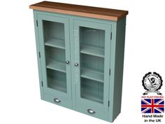 Heartland Pine & Oak 100% Solid Wood Dresser Top, Handcrafted & F&B Painted Bordeaux Options Glazed Wall Unit. (BDX2GDT-O) You Choose the Paint Finish! Green (30mm European Oak Top): Amazon.co.uk: Kitchen & Home