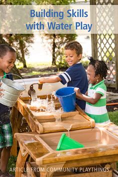 In the early childhood classroom or outdoors, a water center can by the catalyst for building concepts, developing language, and promoting social skills. Because water is naturally fascinating, the thoughtful teacher can structure the environment and materials in the water center to make the most of water play. Click through to read the full article. Physical Development, Play Based Learning, Water Play, Classroom Design, Health And Safety, Social Skills, Early Childhood, Environment, Language