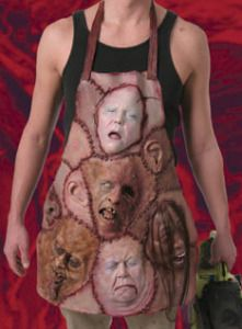 Apron of Skinned Faces. Halloween stuff creepy butcher or leather face costume Halloween Prop, Halloween 2018, Diy Halloween Decorations, Holidays Halloween, Halloween Crafts, Happy Halloween, Halloween Costumes, Halloween Stuff, Bricolage Halloween