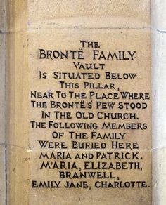 The Bronte vault in St Michael of All Angels Church, Haworth. West Yorkshire, Yorkshire England, Sightseeing London, Bronte Sisters, Cornwall, Famous Graves, England And Scotland, British Isles, Wonders Of The World