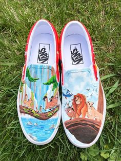 Don't settle on ordinary shoes when you can get your kid's special hand-painted shoes. Take a look at all the awesome hand painted shoes for kids we found. Vans Shoes Fashion, Vans Shoes Women, Custom Vans Shoes, Custom Painted Shoes, Hand Painted Shoes, Painted Vans, Ladies Shoes, Custom Sneakers, Shoes Sneakers
