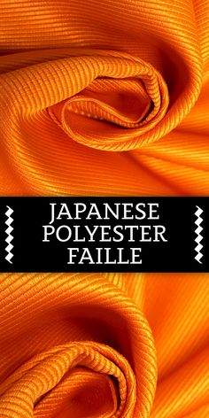 Japanese Polyester Faille in Orange (Made in Japan)