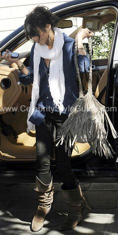 Vanessa Hudgens Style and Fashion - Love Quotes Scarf in Yoga White on Celebrity Style Guide