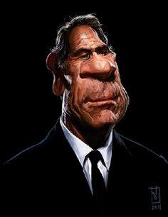 [ Tommy Lee Jones ] - artist: Alberto Russo - website: http://stingarea.blogspot.com/