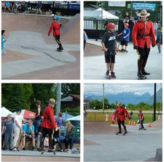 Now this is a cool Mountie. Constable Steele joining in with local skateboard enthusiasts at the Pitt Meadows skate park.