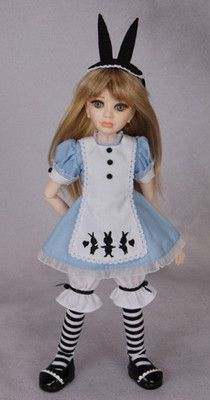 "Alice in Wonderland Doll Outfit for 12 13"" Doll Berdine Creedy Original"