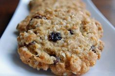 I have had this recipe for years. The cookies are delicious, flaky, because of putting the oats into the food processor. Oats Recipes, Sweet Recipes, Cookie Recipes, Oatmeal Raisin Cookies, Sweet Breakfast, Cooking Light, Food Processor Recipes, Bakery, Food And Drink