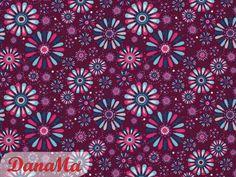 Stoff Blumen - Jersey - Blüten beere - Blumen - Tante Ema - ein Designerstück von DanaMa-Stoffe bei DaWanda