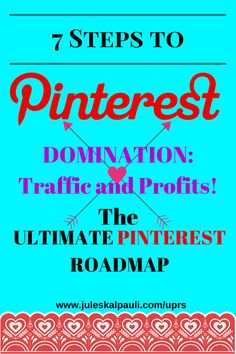 The TOP Best Pinterest Marketing Training! PIN TO WIN CUSTOMERS – THE ULTIMATE PINTEREST ROADMAP! Attract new clients with Pinterest Techniques and Tips! A 7-Module Step-By-Step Guide to help you Swim through the Pinterest Marketing Ocean. Make it work for your business. Is Pinterest a wise investment of your time & money? Get started in 7 Easy to Follow Steps! Practical advice on how to create a Pinterest Business Account That Attracts & Converts www.juleskalpauli.com/uprs $97.00
