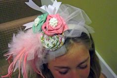 fancy hat/head band - for easter, kentucky derby, royal wedding, dress up, halloween costume