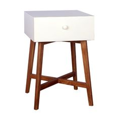 midcentury modern porthos home julia end table white