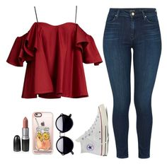 """Infect me with your love, fill me with your poison ❤️"" by feel-like-infinity ❤ liked on Polyvore featuring Anna October, J Brand, Converse and Casetify"