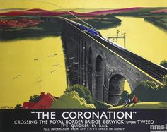 The Coronation -  L.N.E.R. Poster, Tom Purvis