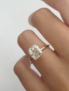 Engagement Ring Photos, Dream Engagement Rings, Cushion Cut Engagement Rings, Most Beautiful Engagement Rings, Solitaire Engagement, Solitaire Ring, Beautiful Diamond Rings, Ring Verlobung, Dream Ring