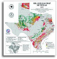 Oil & Gas Map - Texas