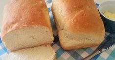 Mmm, delicious homemade bread just like grandma used to make. Cooking Bread, Bread Baking, Bread Recipes, Baking Recipes, Grandma's Recipes, Homemade White Bread, Homemade Breads, Bread Bowls, Baked Donuts