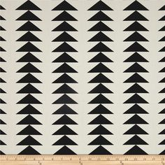 Art Gallery Take Shape Trilateral Stripe from @fabricdotcom  From Art Gallery, this cotton print fabric features stripes of inverted triangles that add a modern and trendy feel to the design. Perfect for quilting, apparel and home decor accents. Colors include black and white.