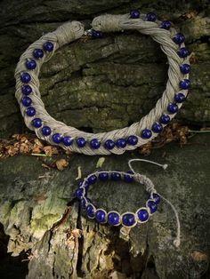 Linen braid necklace and shamballa bracelet Braided Necklace, Braids, Lens, Charmed, Bracelets, Jewelry, Bang Braids, Cornrows, Jewlery