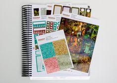 Steampunk sticker kit  / Erin Condren sticker kit / Happy Planner / planner stickers / vertical sticker kit / weekly planner kit