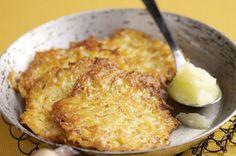 Reibekuchen mit schnellem Apfelkompott Rezept - Rezepte kochen - kochbar.de