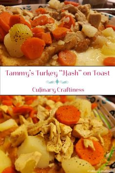 Tammy's Turkey Hash on Toast - What to do with leftover turkey | Culinary Craftiness