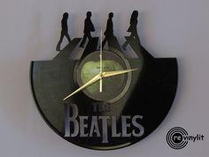 Die Beatles-Uhr, Wanduhr, John Lennon, The Beatles, Abbey Road, Beatles-Kunst…