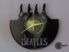 Die Beatles-Uhr, Wanduhr, John Lennon, The Beatles, Abbey Road, Beatles-Kunst, Paul Mccartney, Vinyl-Rekord-Uhr, Mancave-Dekor