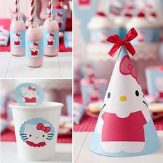 Kit de decoración para una Fiesta Hello Kitty. Fiestas Infantiles 126b244a898