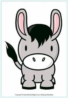 cute donkey cartoon - Google Search