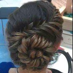 Braided hair style