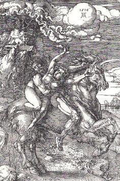 Durero, El rapto sobre el unicornio, 1516