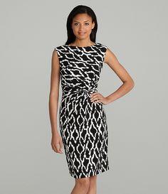 Chaus Mixed Geo-Print Dress | Dillards.com $79