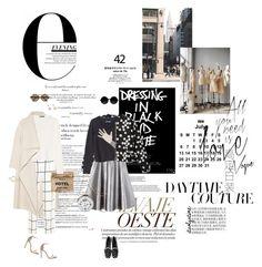"""E-Daytime Couture"" by itsolgatime ❤ liked on Polyvore featuring Balmain, Giambattista Valli, Chloé, MANGO, Illesteva, Moscot, Vita Fede and Isabel Marant"