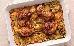 Κοτόπουλο με πατάτεs στο φούρνο, «προβενσάλ»
