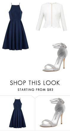 """""""Untitled #171"""" by musicallovemagic ❤ liked on Polyvore featuring Chi Chi, Manolo Blahnik and Ted Baker"""