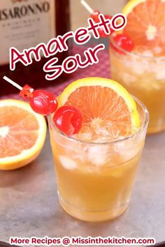 Amaretto Sour cocktails are a classic drink that you can easily make at home. A uniquely flavored, refreshing cocktail with just 3 ingredients. Cocktails For Parties, Refreshing Cocktails, Easy Cocktails, Classic Cocktails, Summer Drinks, Sour Cocktail, Cocktail Drinks, Vodka Slushies, Easy Mixed Drinks