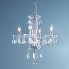 5 Light Clear Glass Mini Chandelier