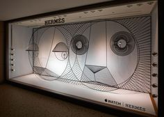 Danish studio GamFratesi created animals from metal wires for the Apple Watch Hermès window display in Japan.